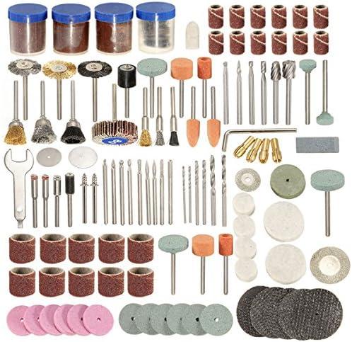 KUNSE 166Pcs 1/8 Inch Shank Rotary Tool Accessoires Set Polshing Tool Schleifbürste Polier Rad