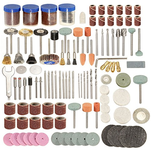 Kamas 166pcs 1/8 Inch Shank Rotary Tool Accessories Set Polshing Tool Grinding Brush Polishing Wheel