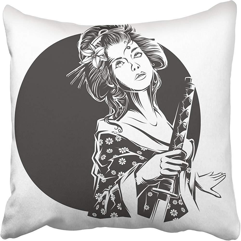 Amazon.com: Starosa Throw Pillow Covers 18 x 18 Inches Black ...