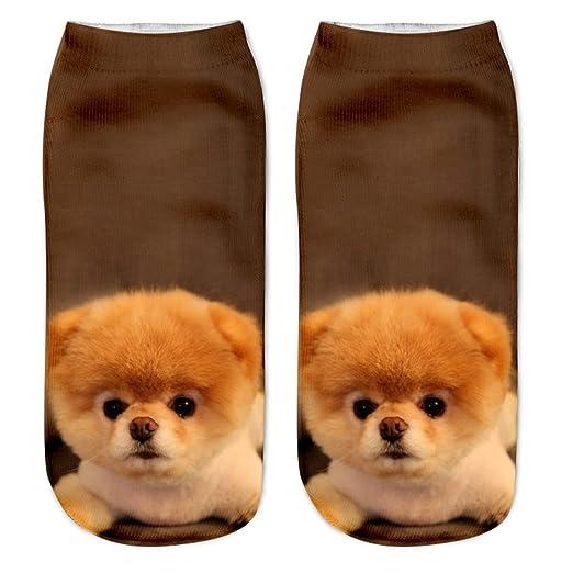 Las mujeres lindas calcetines de impresión de gato 6PC deportes medias calcetines de tobillo de calzado: Amazon.es: Deportes y aire libre