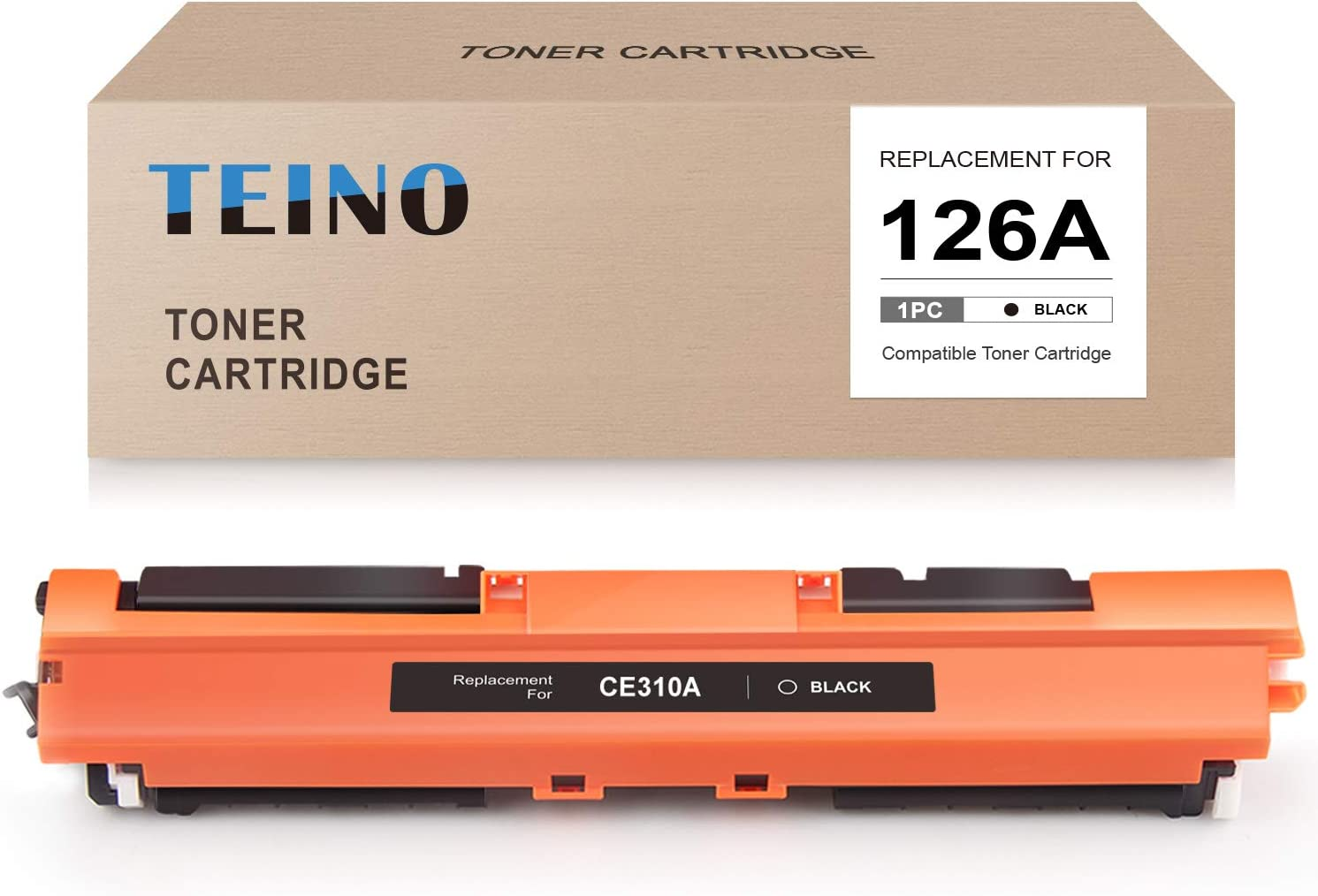 TEINO Compatible Toner Cartridge Replacement for HP 126A CE310A use with HP Laserjet Pro 100 Color MFP M175nw CP1025nw Laserjet Pro 200 M275NW TopShot Laserjet Pro M275 MFP (Black, 1-Pack)