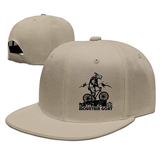 Funny Mountain Bike Mountain Goat Baseball Caps Fitted Running Ball ... 0479a107ee9
