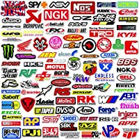 POP Sticker Car & Moto Modified Brand Logo Series Sticker Pack (103 pcs) Vinyl Stickers for Laptop,Car,Moto,Skateboard,Bike,Luggage,iPhone.Graffiti Decal for Family,Friends,Children,Adults-Waterproof
