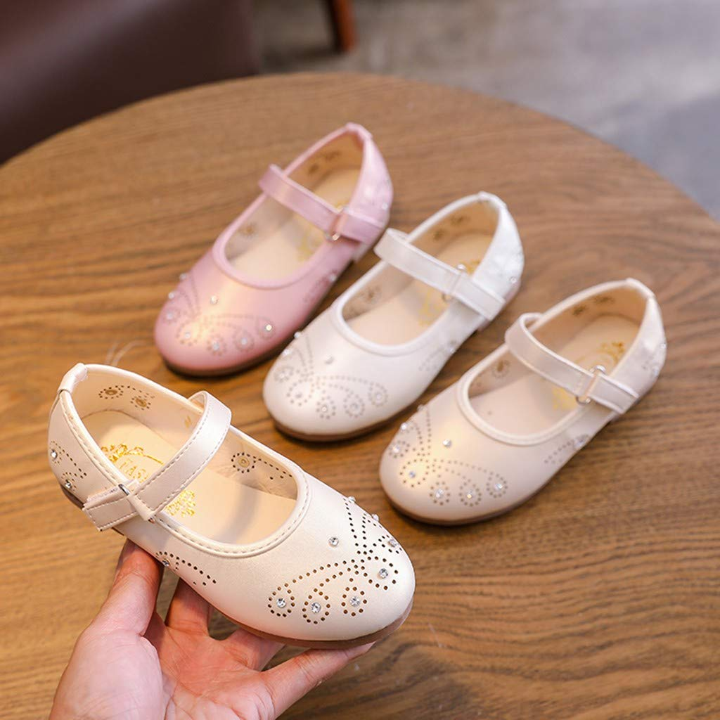 Randolly Toddler Shoes Fashion Baby Diamond Butterfly Girls Hallow Out Casual Ballet Pricness Shoe