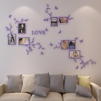 Fesselnd LIANGJUN 3D Acryl Wandaufkleber Bilderrahmen Hintergrund Wand Wohnzimmer  Schlafzimmer, 2 Größen Erhältlich, 2 Farben