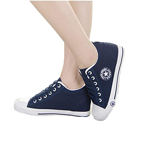 3a221e5e6 Queixiw Designer Summer Women Sneakers White Wedges Canvas Shoes Star Lace  Up Casual Shoes Female Trainers