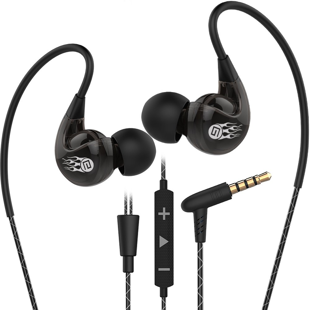 Sport Earbuds with mic By Sllik ExtraBass wired Stereo Earphones