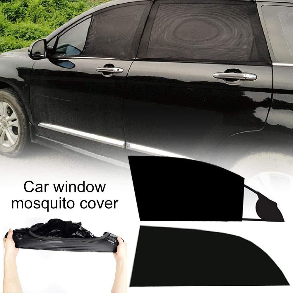 bloquea el calor zunbo Juego de 2 parasoles universales para ventanas laterales de coche para protecci/ón UV color negro