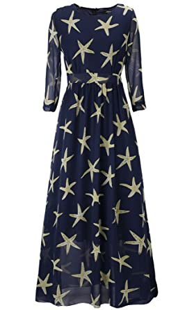 fd8a16a9cf2 Women s 3 4 Sleeve Faux Wrap Maxi Dress Paris Romantic Dating Dress Size 2XL