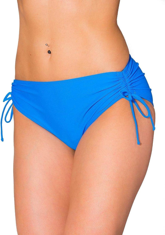 Aquarti Womens Bikini Bottom with Side Drawstrings