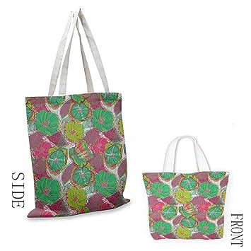 Bolsa de lona para equipo con diseño de flores y hojas de ...