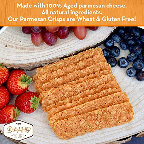 Delightfully Yours: Low Carb Parmesan Cheese Crisps {ORIGINAL Flavor} 100% aged - Flavorful Handmade - Keto Friendly Snack - All Natural - Wheat Free - Gluten Free - Protein Packed 12 OZ (4 PACK) by Delightfully Yours (Image #3)