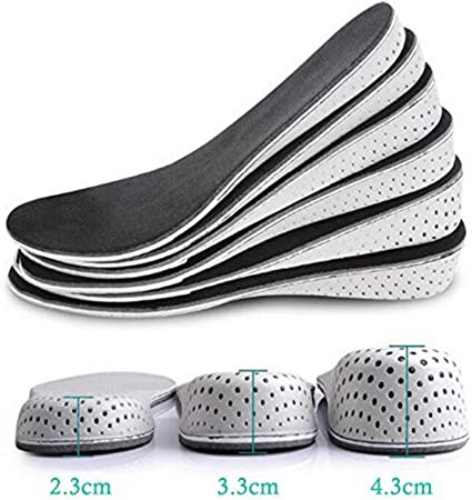 Elevator Women Shoes Lift Breathable Unisex Insoles Shoes Pad Height Cushion
