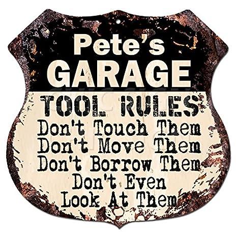 Amazon.com: Pete cochera de herramienta reglas rústico Chic ...