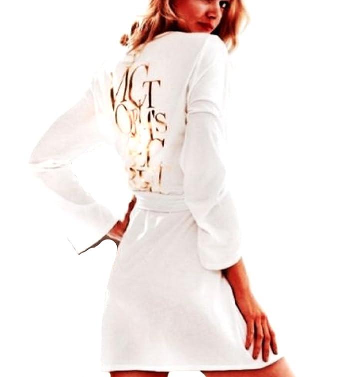 Victorias Secret - Bata - para mujer blanco Oro Blanco S: Amazon.es: Ropa y accesorios