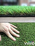 VViViD Natural Looking 3-Tone Synthetic Grass Anti-UV Vinyl Turf Mat Bulk Roll (12ft x 40'' Roll)