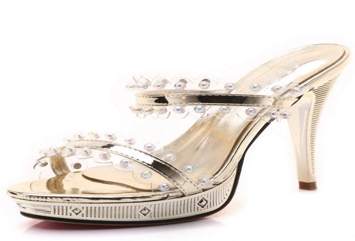 HBDLH Damenschuhe Es 11Cm Hochhackigen Pantoffeln Wasserdichte Tabelle Sexy Sexy Sexy Outdoor - Schuhe Die Im Sommer Tau Ziehen. dfca78