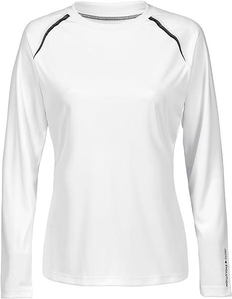 Musto Womens Evolution Dynamic Camiseta de Manga Larga Camiseta Camiseta Top Blanca - Protección Solar UV y propiedades SPF: Amazon.es: Deportes y aire libre