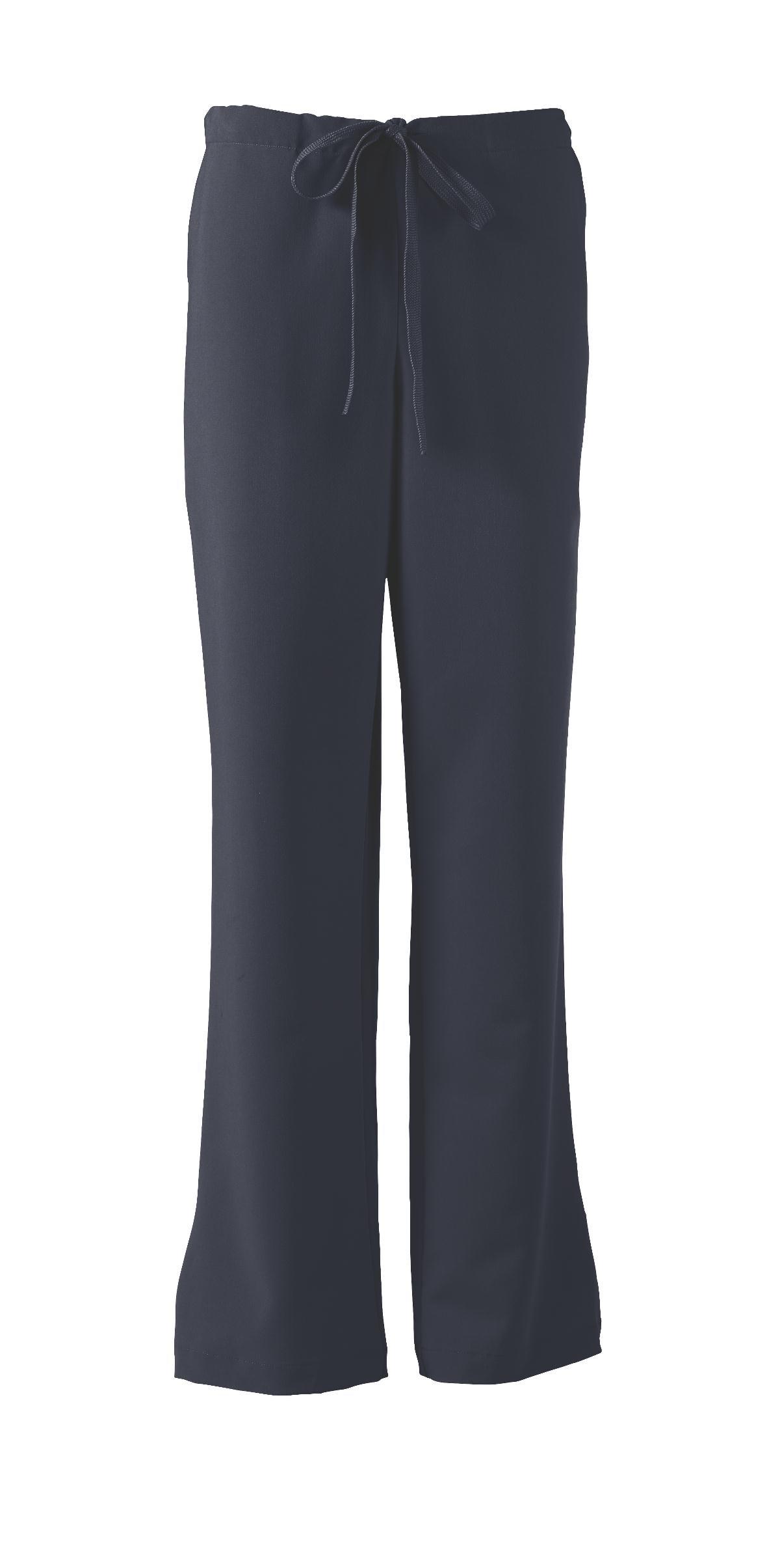 ave Women's Medical Scrub Pants, Melrose ave, Bootcut Style, Drawstring and Elastic Waist, Great for Nurses, Navy, Medium Petite