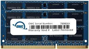 OWC 8.0GB (2X 4GB) P1333MHz 204-Pin DDR3 SO-DIMM PC3-10600 CL9 Memory Upgrade Kit, (OWC1333DDR3S08S)