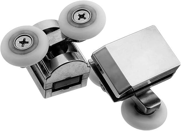 galets de porte de douche en alliage de zinc en alliage de zinc 2 x roulettes