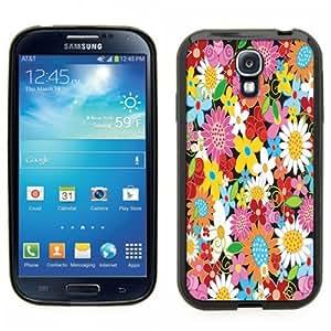 Samsung Galaxy S4 SIIII Black Rubber Silicone Case - Strawberry, Strawberries, little strawberry print