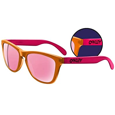 oakley sunglasses orange  oakley frogskin 100% uv sunglasses blacklight orange/pink/pink iridium