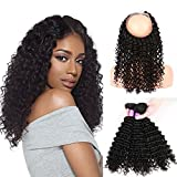 (US) Sexy Weave Brazillian Deep Wave 3 Bundles with 10 12 14 16 18 20 Inches 360 Frontal Unprocessed Cheap Virgin Human Hair Wigs Extensions Natural Color for Women