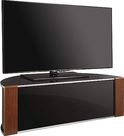 Porta Tv Lcd Vetro.Mda Designs Remote Friendly Beam Thru Porta In Vetro Noce Piano