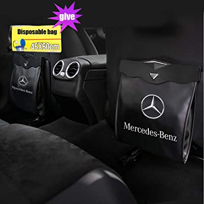 MASHA Mercedes Benz Car Garbage Bin Trash Cans Garbage Bags Wastebasket Vehicle Rubbish Container Back Seat Hanging Auto Organizer Fit for Mercedes Benz All Model Accessories: Home Improvement [5Bkhe0108363]