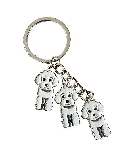 BbearT® - Llavero de identificación para Perro, diseño de Tres Perros, Llavero, Llavero de Metal, Llavero con Etiquetas, Llavero de Coche, Bolsa de ...
