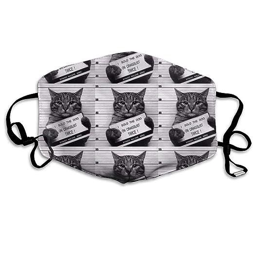 4b574d840062 Amazon.com: Cat Prisoner Mouth Mask Unisex Anti-dust Cotton Face ...