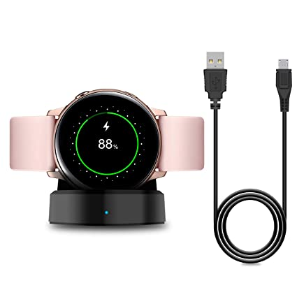 Charger Stand for Samsung Galaxy Watch Active 40mm/Galaxy Active 2 Smartwatch, Replacement Charging Cradle Dock for Galaxy Active Watch SM-R500N and ...