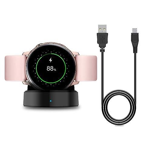 YUANHOT - Cargador para Samsung Galaxy Watch Active SM-R500, Base ...