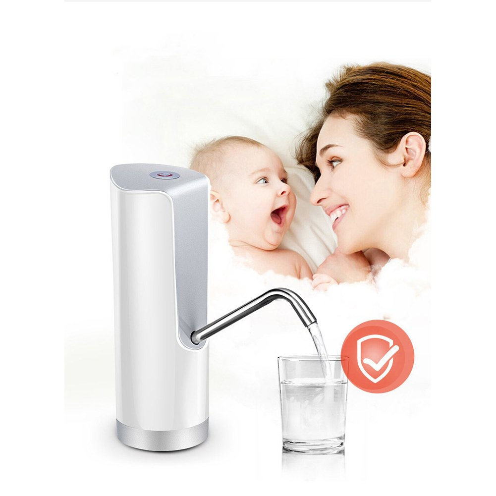 Ocamo USB Charging Electric Drinking Fountain Pumper Water Dispenser for Barrelled Water with Child?Safety?Lock