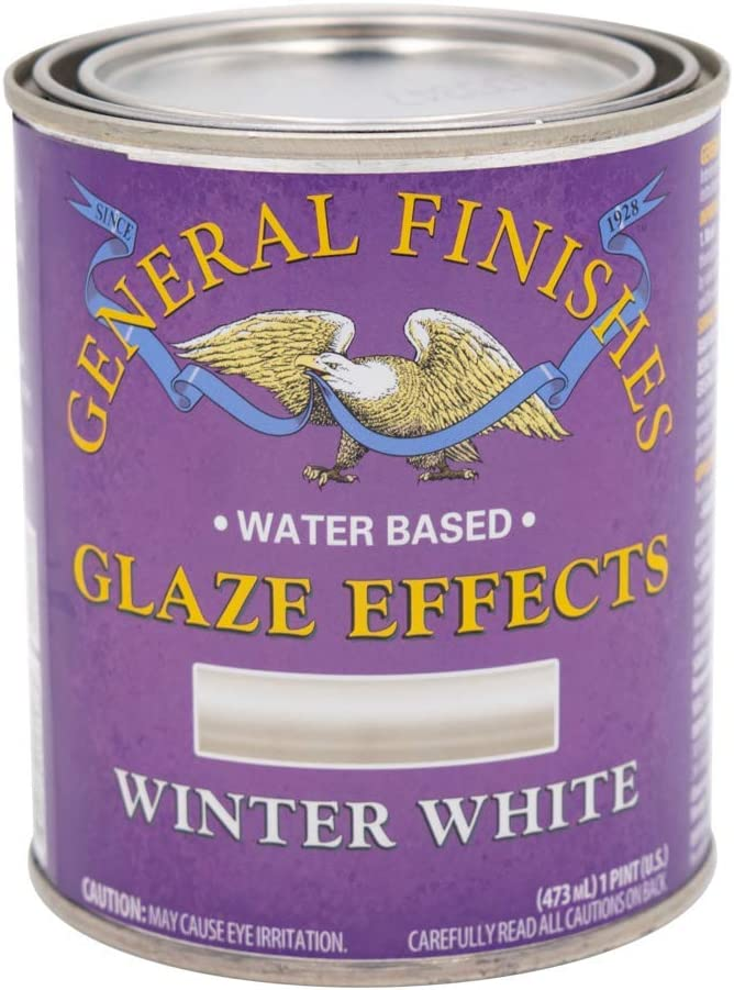 General Finishes Water Based Glaze Effects, 1 Pint, Winter White