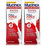 Mucinex Sinus-Max Full Force Nasal Decongestant Spray, 0.75 Ounce (Pack of 2)