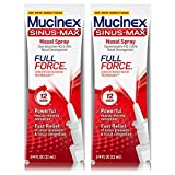 sinus nose spray - Mucinex Sinus-Max Full Force Nasal Decongestant Spray, 0.75 Ounce  (Pack of 2)