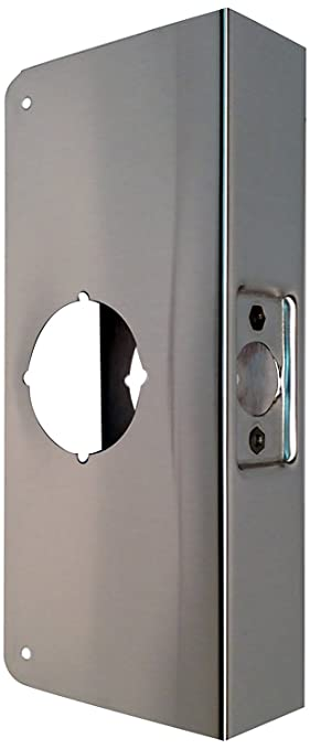 Don-Jo 4-CW-S Stainless Steel Classic Wrap-Around Plate & Don-Jo 4-CW-S Stainless Steel Classic Wrap-Around Plate Satin ...