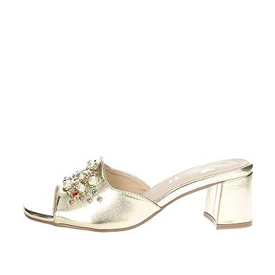 Braccialini B2055 Mules Femme Or  - Chaussures Sandale Femme