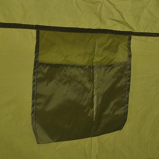 vidaXL Tienda de campaña para ducha/WC/vestidor azul/verde
