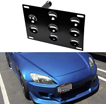 Front Bumper Tow Hook License Plate Mounting Holder For Honda S2000 AP1 AP2 FIT