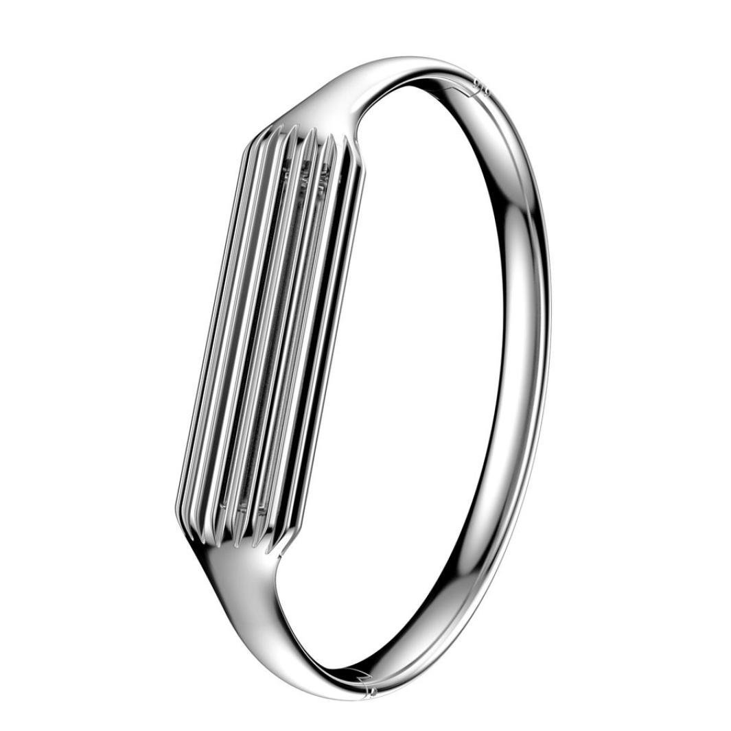 EloBeth Compatible with Fitbit Flex 2 Bands Fashion Bangle Replacement for Fitbit Flex 2 Band Women Accessory (Silver-Small) by EloBeth