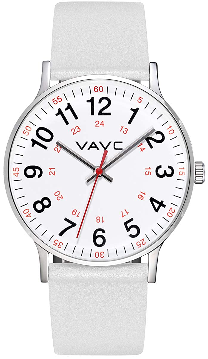 Second Hand Watches >> Vavc Nurse Watch For Medical Students Doctors Women With Second Hand And 24 Hour Easy To Read Watch