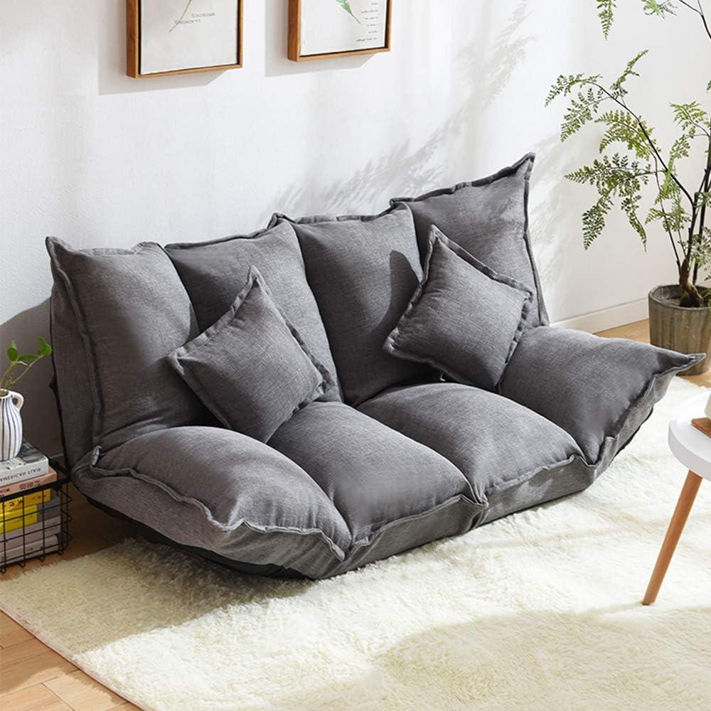 Sofabett Waschbar Sofabezug Bettkasten Sofa mit Schlaffunktion PUCHIKA Schlafsofa mit 2 Kissen Grau 2 Sitzpl/ätze Sofa 1,6 Meter