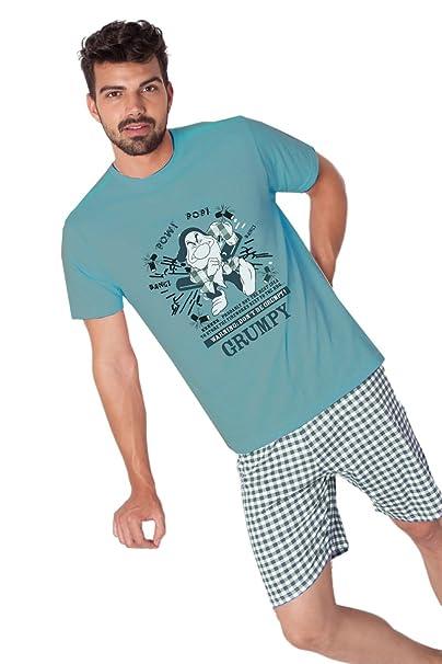 Disney - Pijama Para Hombre, Color: Oceano, Talla: S