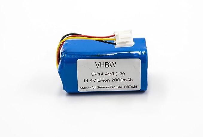vhbw Li-Ion batería 2000mAh (14.4V) para Robot autónomo de Limpieza Severin Chill RB-7028, RB7028: Amazon.es: Electrónica