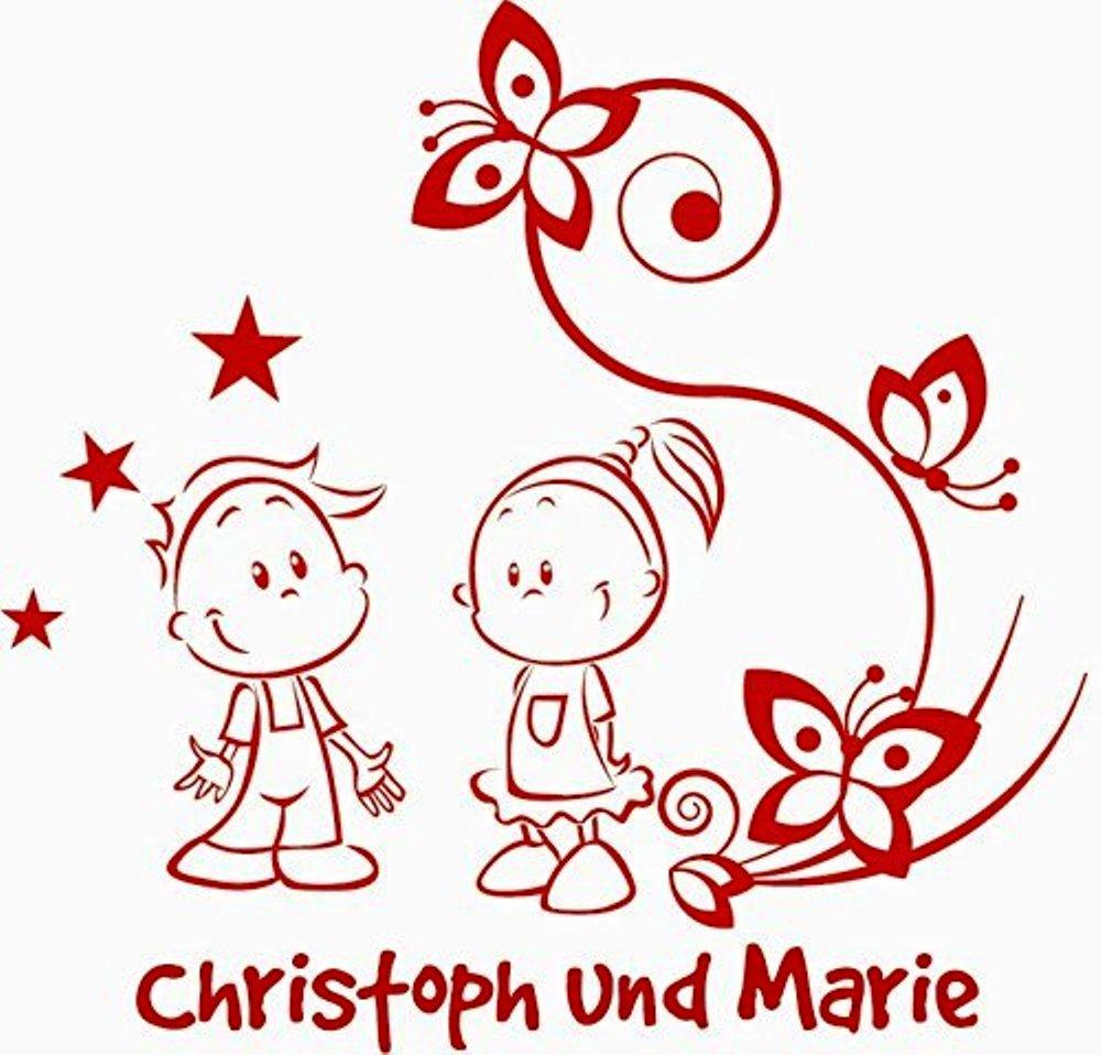 Baby//Kinder Autoaufkleber ***Geschwister mit eigenem Wunschtext, Farb.- und Schriftauswahl Motiv 02//links***