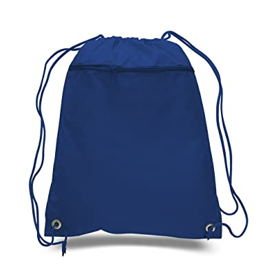 7e6bfe8aaf7b Amazon.com | Lot of 12 - Royal Blue Polyester Drawstring Bag with ...