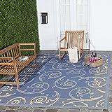 Safavieh Indoor/ Outdoor Oasis Blue/ Natural Rug (5 3 x 7 7)
